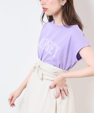 natural couture(ナチュラルクチュール) 【サスティナブル】カレッジエコノースリーブ