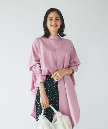 La boutique BonBon(ラブティックボンボン) 《予約》【新色追加】ダンプニドムチュニックシャツ
