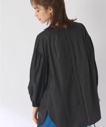 La boutique BonBon(ラブティックボンボン) 《予約》バンドカラー前後2WAYチュニックシャツ