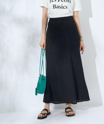 La boutique BonBon(ラブティックボンボン) 【手洗い可】テレコナロースカート