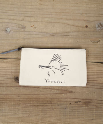 salut!(サリュ) 【野鳥の会】ダブルポケットポーチミニ(YAMASEMI)