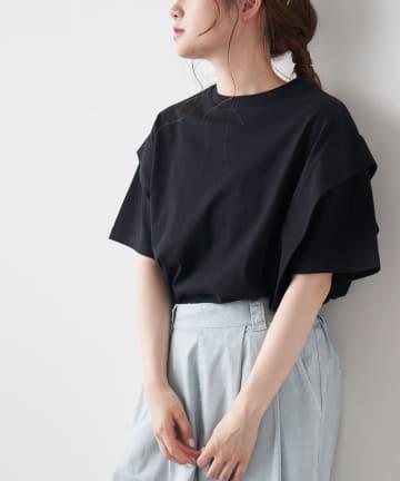 pual ce cin(ピュアルセシン) 【Du noir】シルケットサイドタックTシャツ