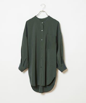 CIAOPANIC(チャオパニック) ストライプヨークギャザーシャツ