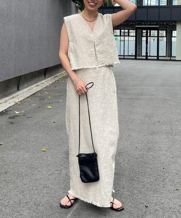 Omekashi(オメカシ) リネンフリンジスカート