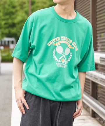 Discoat(ディスコート) TENNIS CLUB プリントTシャツ