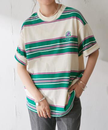 Discoat(ディスコート) レトロボーダービッグTシャツ