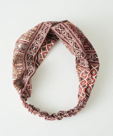 3COINS(スリーコインズ) スカーフ柄ターバン