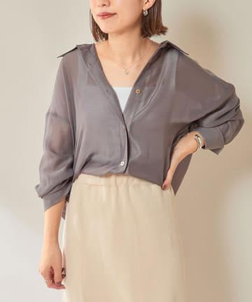 SHENERY(シーナリー) シアーボイルシャツ