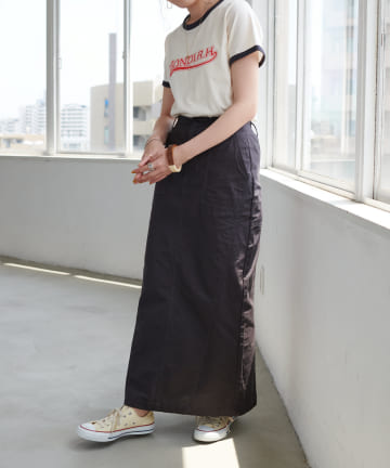 Discoat(ディスコート) リップストップ切替ベーカースカート