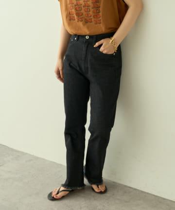 natural couture(ナチュラルクチュール) 【大人ナチュ】ストレッチソフトフレアデニムパンツ