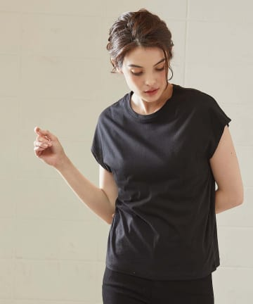 OUVRAGE CLASSE(ウヴラージュクラス) オーガニックコットンフレンチTシャツ