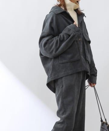 COLONY 2139(コロニー トゥーワンスリーナイン) コール天ビッグフラップショートジャケット(セットアップ可)