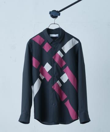 Lui's(ルイス) 【ETHOSENS×Lui's /エトセンス×ルイス】バイアスデザインシャツ