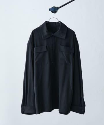 Lui's(ルイス) 【SILLIS/シリス】ハイネックパチポケットシャツ