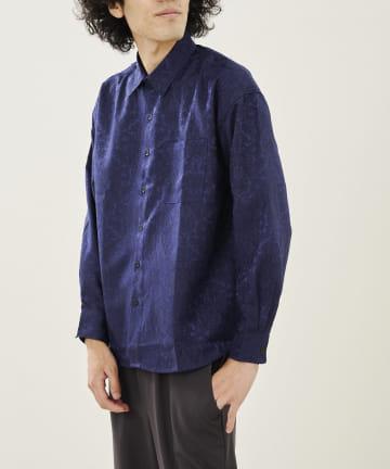 CPCM(シーピーシーエム) ダマスク柄ジャガードシャツ