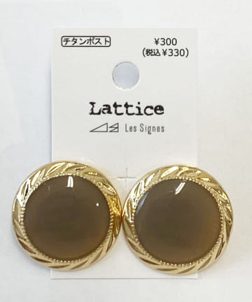Lattice(ラティス) カラーサークルチタンピアス