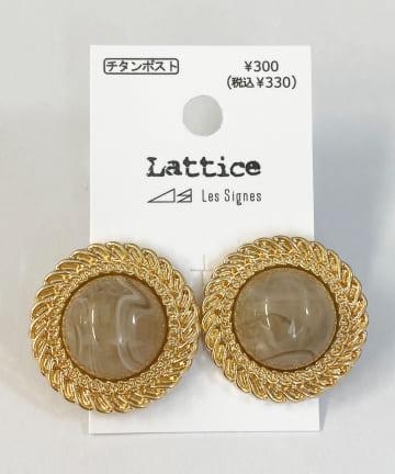 Lattice(ラティス) ヴィンテージ風チタンピアス