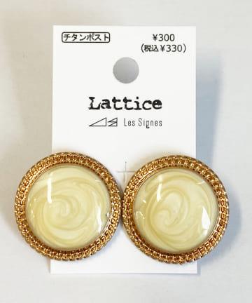 Lattice(ラティス) マーブルサークルチタンピアス