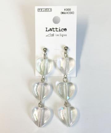 Lattice(ラティス) オーロラハートチタンピアス
