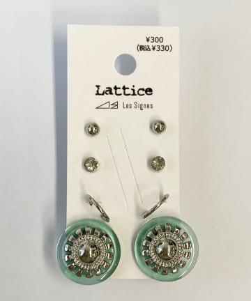 Lattice(ラティス) アクリルボタンSETピアス