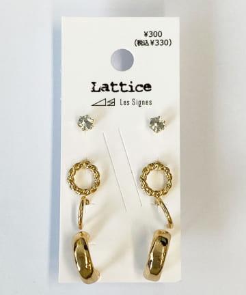 Lattice(ラティス) メタルフープSETピアス
