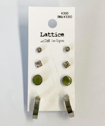 Lattice(ラティス) ハートフープSETピアス