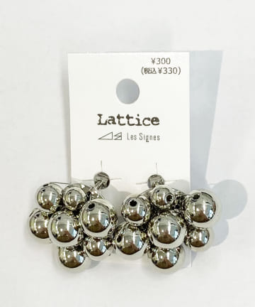 Lattice(ラティス) メタルボールイヤリング