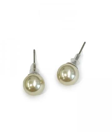 Lattice(ラティス) シンプルパールチタンピアス