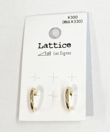 Lattice(ラティス) シンプルミニフープピアス