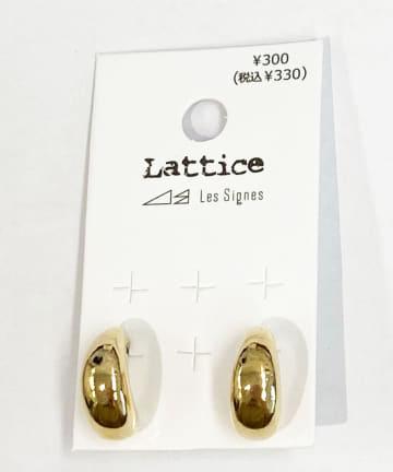 Lattice(ラティス) ぷっくりフープピアス