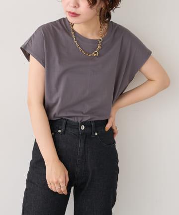 natural couture(ナチュラルクチュール) オーガニックコットンフレンチスリーブパックT
