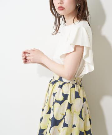natural couture(ナチュラルクチュール) ラッフルフリルT