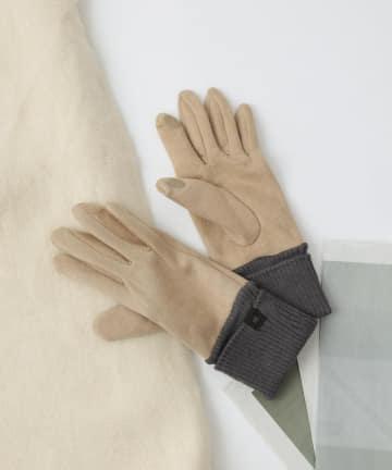COLONY 2139(コロニー トゥーワンスリーナイン) 【WOMEN'S】スマホ対応リブ付きスエード風手袋
