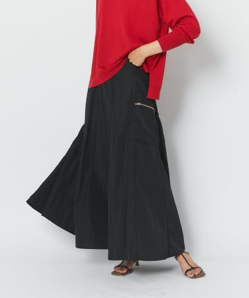 RIVE DROITE(リヴドロワ) 【メリハリのあるシルエットで足長効果】カーゴZIPポケットスカート