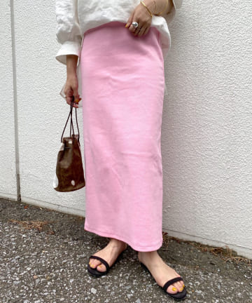 SHENERY(シーナリー) 【WEB限定カラー:ピンク】リブロングスカート