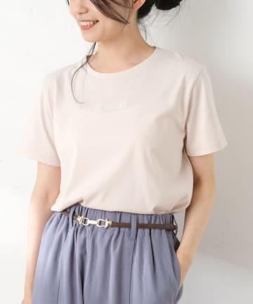 OLIVE des OLIVE OUTLET(オリーブ・デ・オリーブ アウトレット) シンプルロゴ刺繍Tシャツ