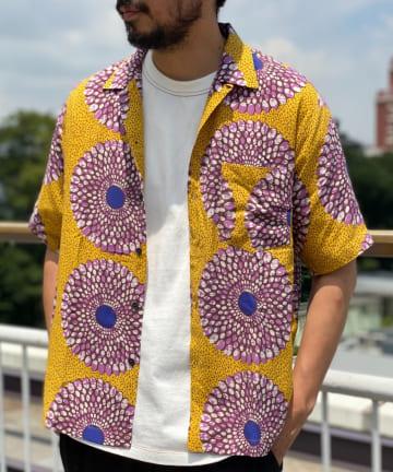CIAOPANIC TYPY(チャオパニックティピー) アフリカンバティック柄シャツ