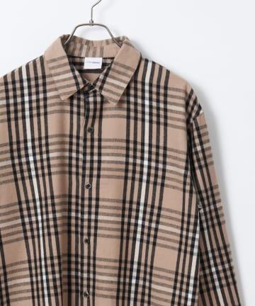 CIAOPANIC(チャオパニック) 綿テンセルチェックシャツ