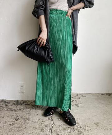 CAPRICIEUX LE'MAGE(カプリシュレマージュ) 〈WEB限定〉サテンプリーツスカート