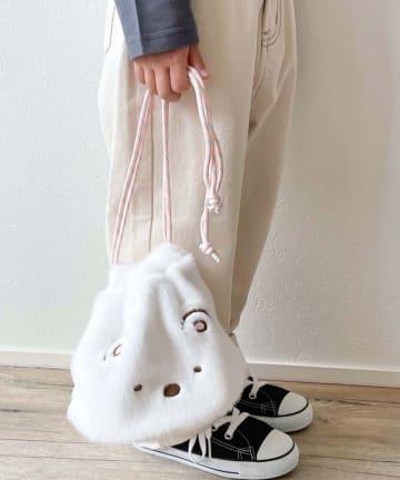CIAOPANIC TYPY(チャオパニックティピー) 【すみっコぐらし×CIAOPANIC TYPY】コラボ ファーフェイス巾着バッグ