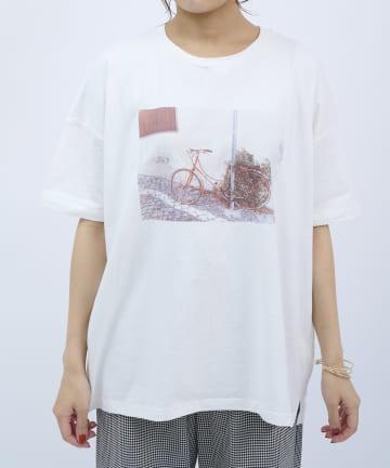 salut!(サリュ) photoTシャツ(BICYCLE)