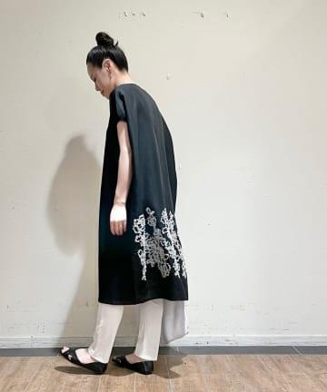 BEARDSLEY(ビアズリー) 《予約・クーポン10%OFF》後ろ裾刺繍チュニック