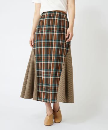 COLLAGE GALLARDAGALANTE(コラージュ ガリャルダガランテ) チェックマーメイドスカート