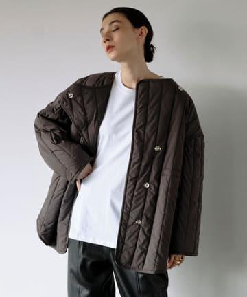 GALLARDAGALANTE(ガリャルダガランテ) ストライプキルティングジャケット【オンラインストア限定商品】