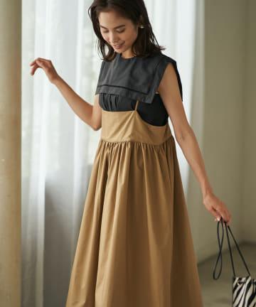 La boutique BonBon(ラブティックボンボン) 《予約》タイプライターストラップマキシジャンパードレス