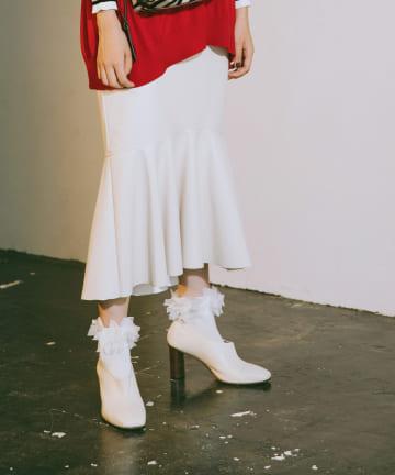 La boutique BonBon(ラブティックボンボン) 【COZスタイル・手洗い可】エコレザーマーメイドスカート