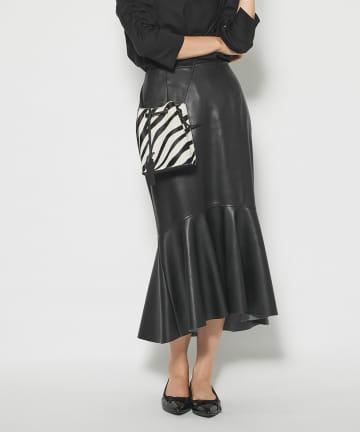 La boutique BonBon(ラブティックボンボン) 《予約》【手洗い可】エコレザーマーメイドスカート