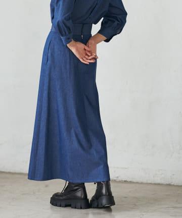 La boutique BonBon(ラブティックボンボン) 《予約》デニムマキシマーメイドスカート
