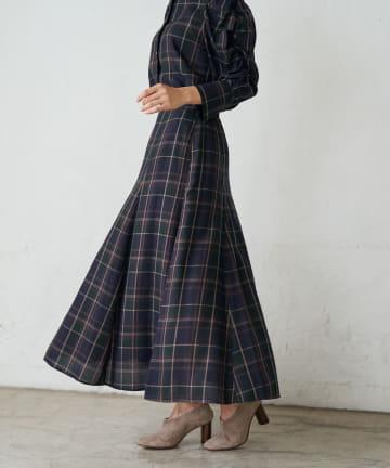 La boutique BonBon(ラブティックボンボン) 《予約》チェックマーメイドマキシスカート