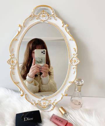Lattice(ラティス) 【WEB限定】ヴィンテージ風ミラートレイ